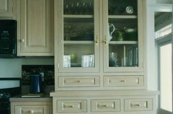 Photo of kitchen cabinet